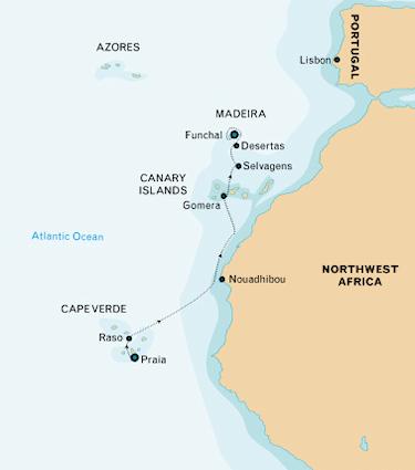 West African Islands Map